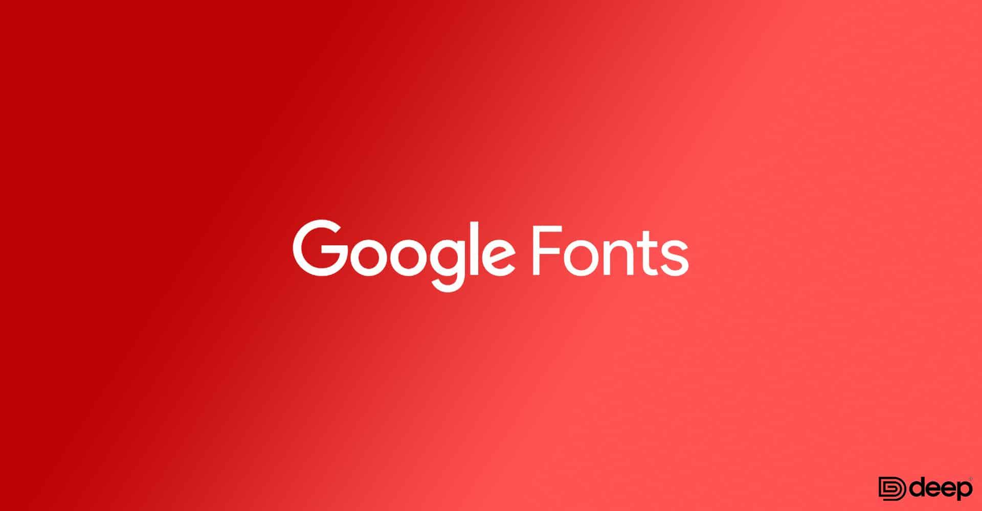 Remove google fonts
