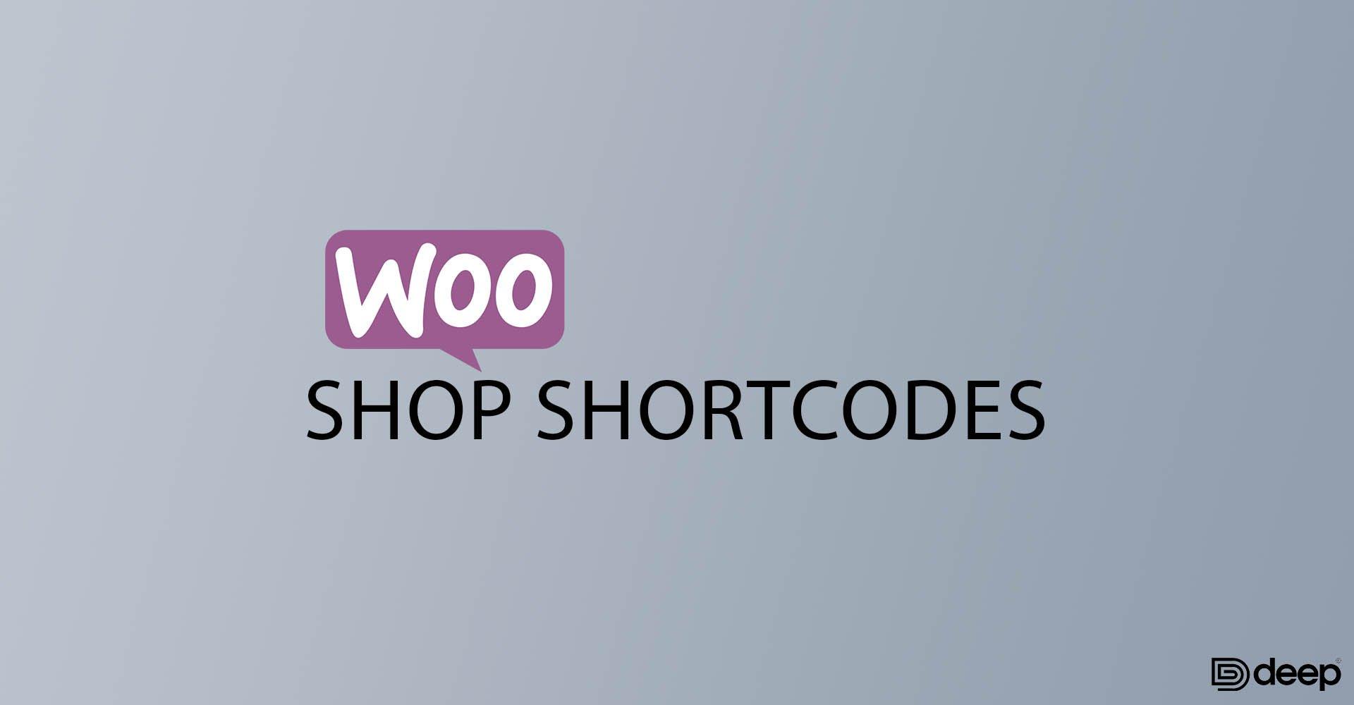 Shop Shortcodes
