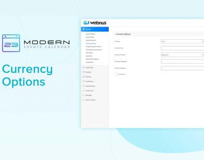 Currency Options in MEC plugin