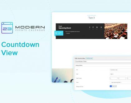 Countdown View Skin In Modern Event Calendar