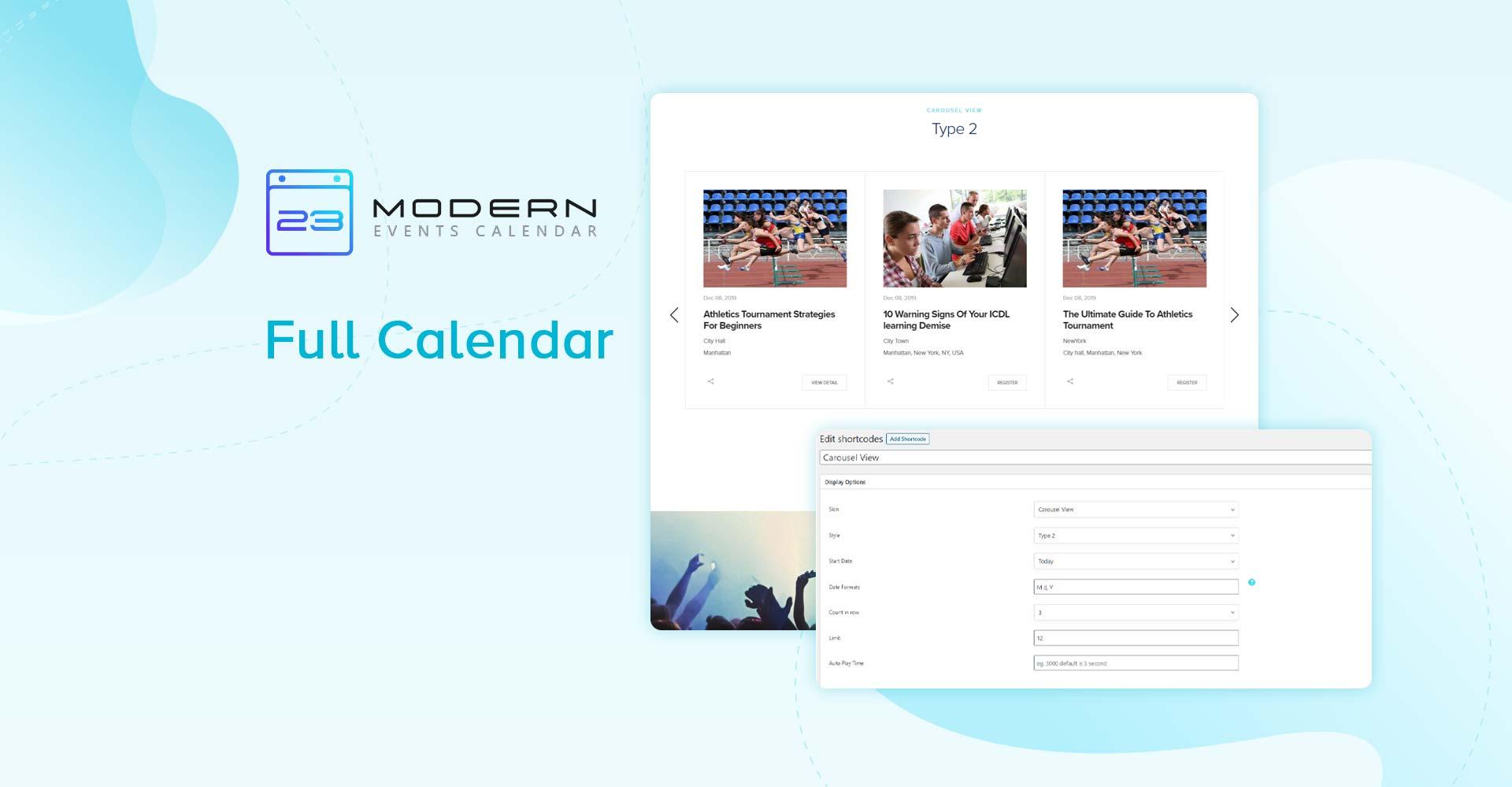 Full Calendar Skin In Modern Event Calendar