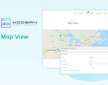 Map View Skin In Modern Event Calendar