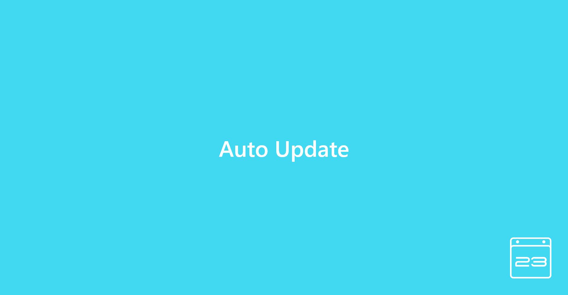 Auto Update - WordPress Event Calendar
