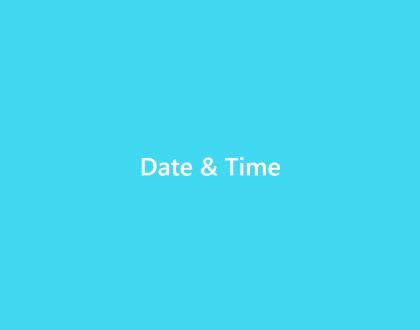 Date and Time - WordPress Event Calendar