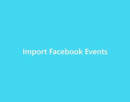 Import Facebook Events - WordPress Event Calendar