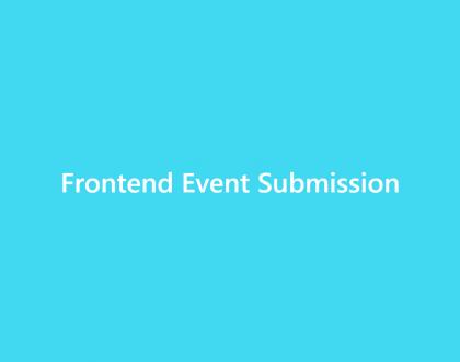Front-end event sebmission - WordPress Event Calendar
