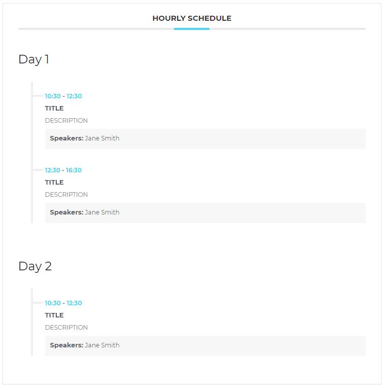 hourly new front-end - WordPress Event Calendar