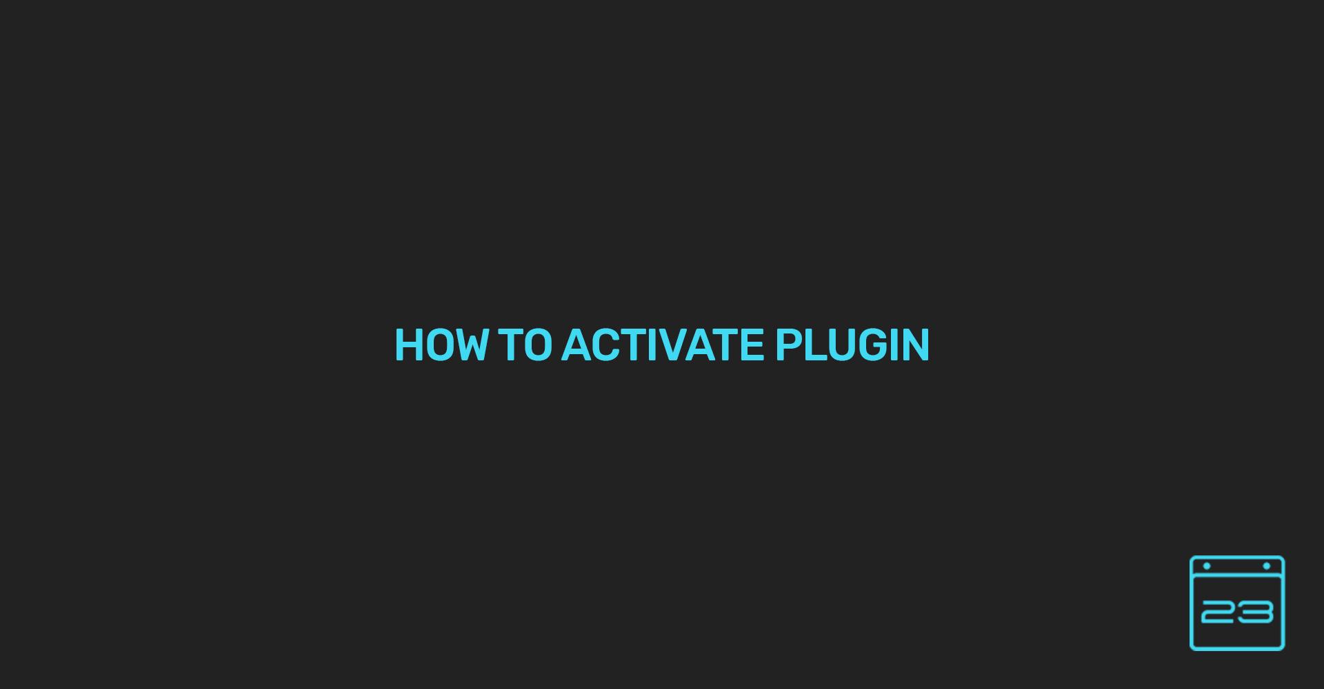activation - WordPress Event Calendar