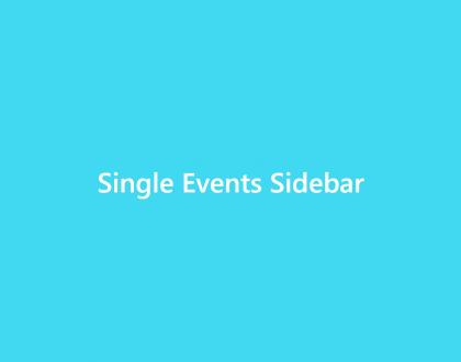 Single Events Sidebar