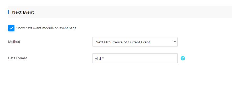 Next Events Module in WordPress modern Event Calendar