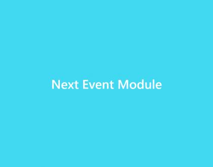 Next Event Module - WordPress Event Calendar