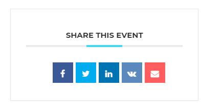 Social Networks - Modern Events Calendar
