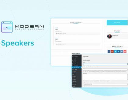 Speaker in Modern Event Calendar WordPress