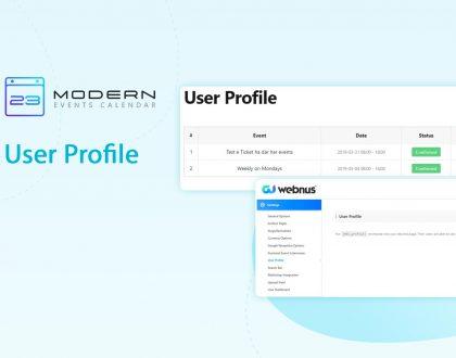 User Profile in MEC plugin