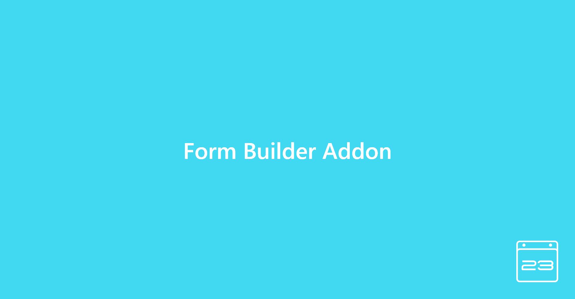 Form Builder Add-On - WordPress Event Calendar