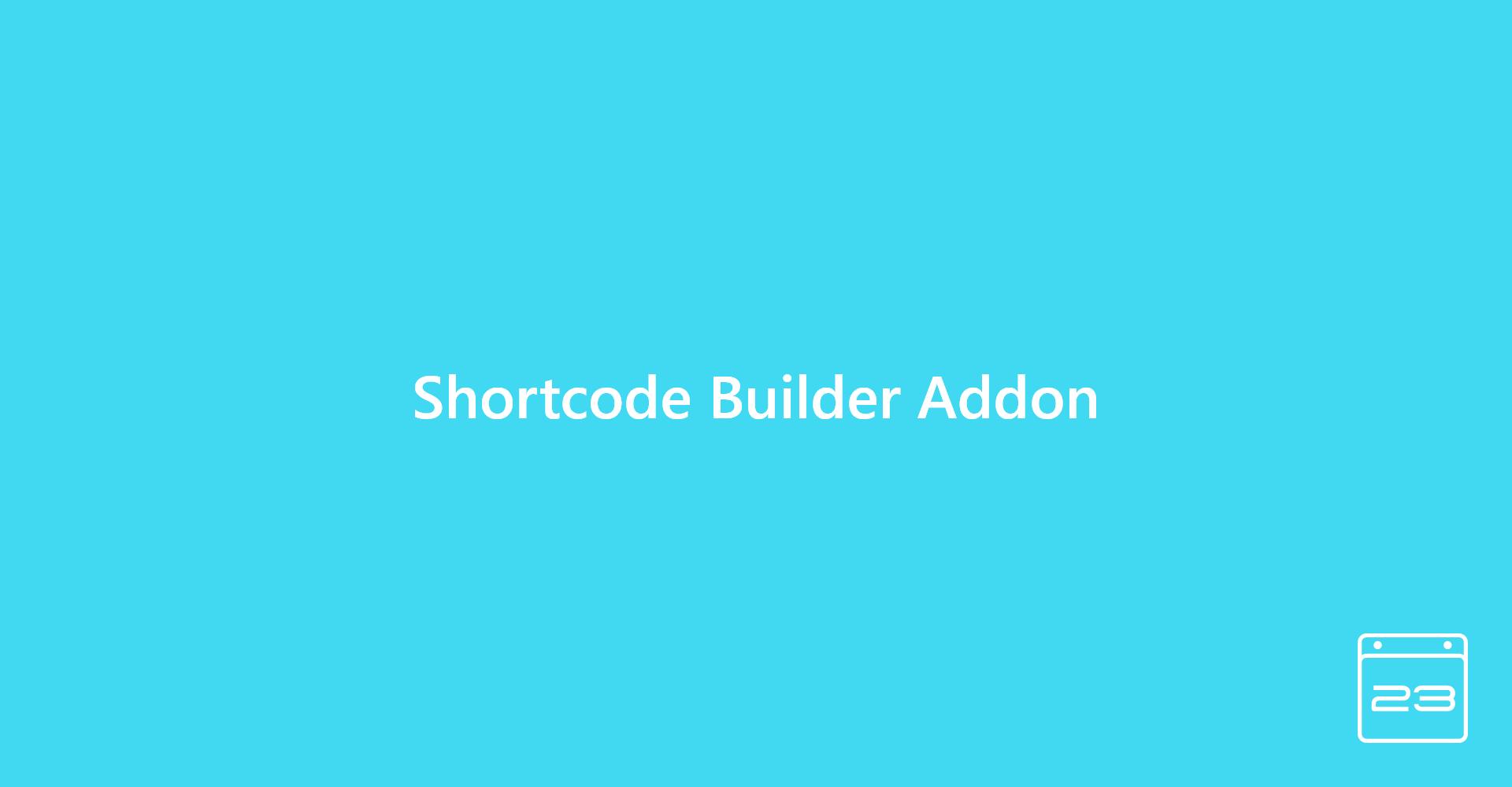 Shortcode Builder Add-On - WordPress Event Calendar