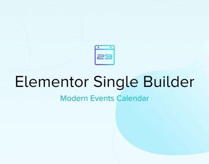 Modern Event Calendar Single Builder Addon