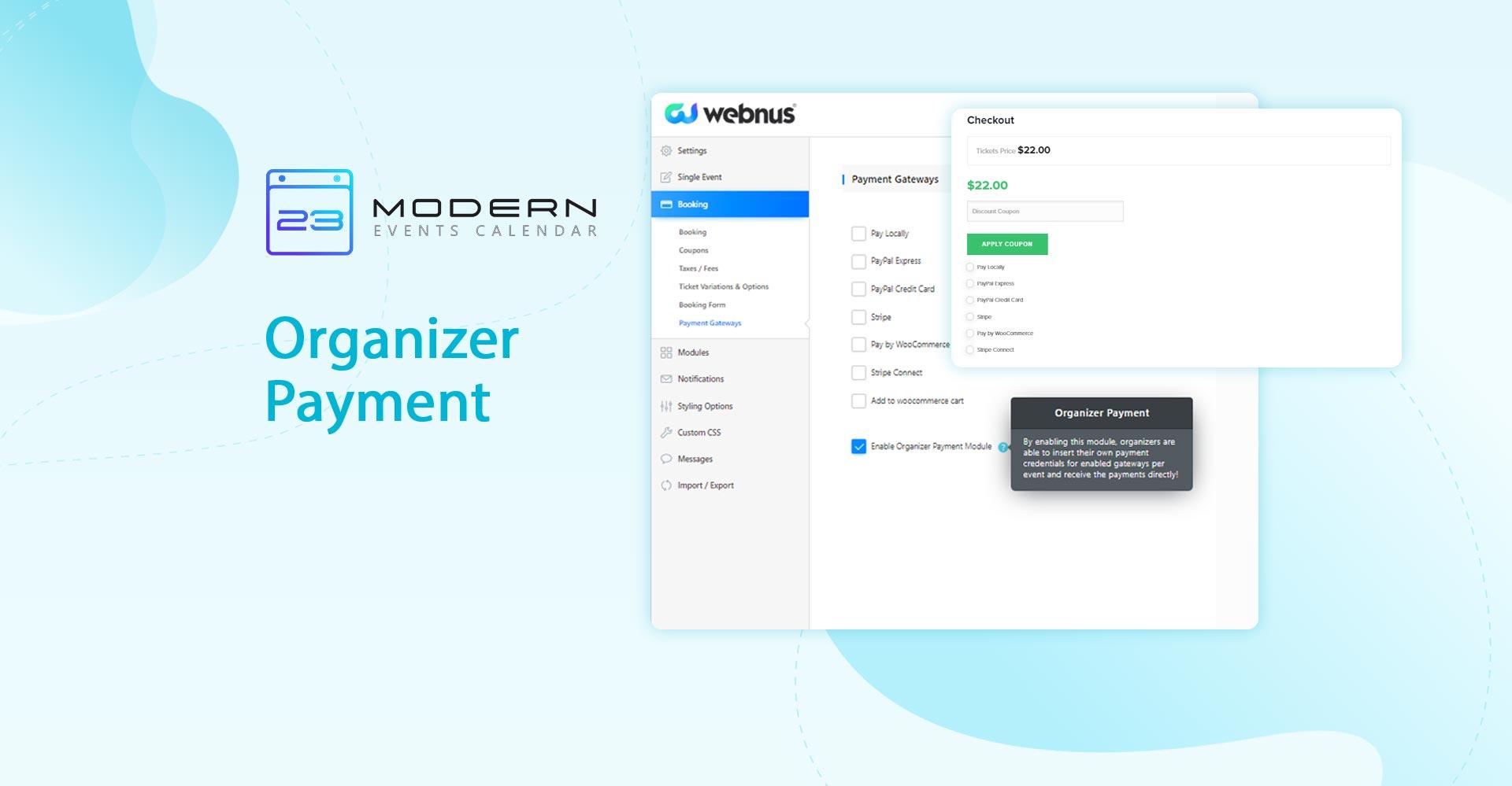 Organizer Payment in MEC plugin