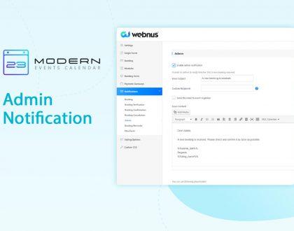 Admin Notification in MEC plugin