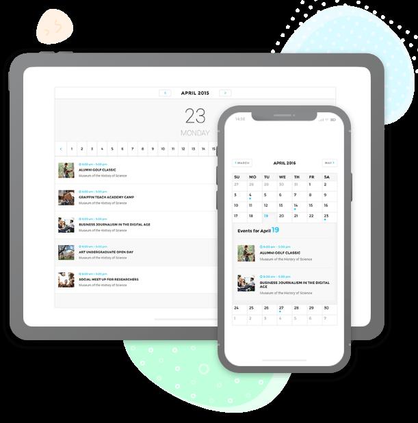 Responsive Events Calendar