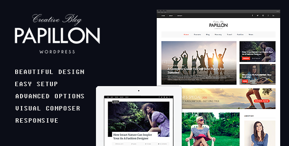 Papillon - Creative WordPress Blog Theme 1