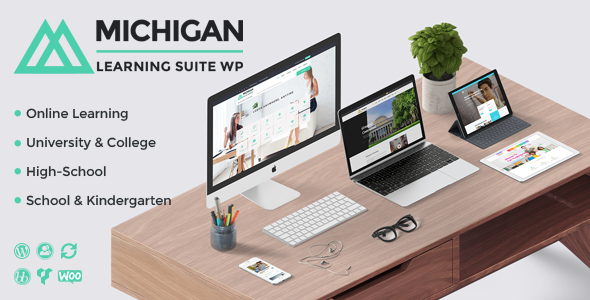 Michigan Learning Suite - All-in-one Education WordPress Theme 1