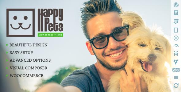 Happy Pets - A Pet Shop/Services WordPress Theme 1