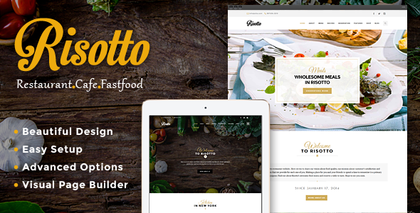 Risotto - WordPress Restaurant & Cafe Theme 1