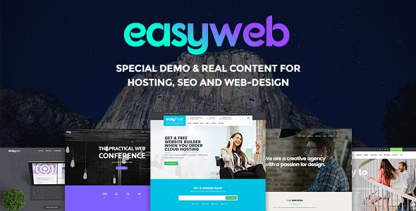 Easyweb Wp Theme For Hosting Seo And Web Design Agencies Webnus