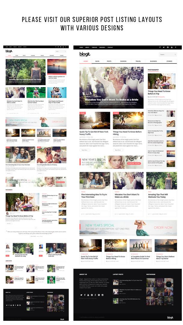 Blogit - Clean Blog/Magazine WordPress Theme – Webnus