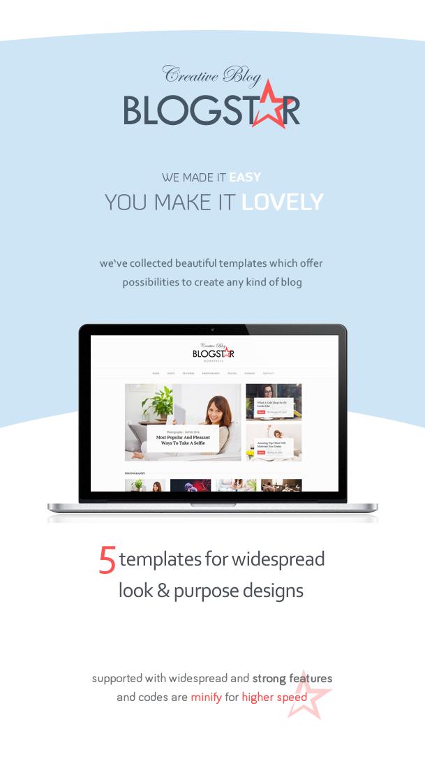 BlogStar - Creative WordPress Blog Theme 2